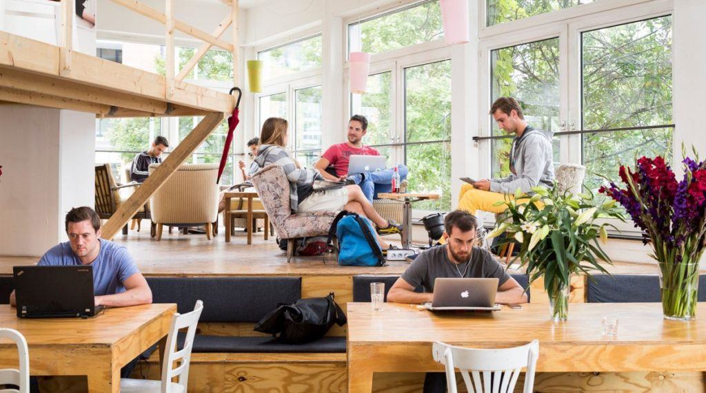 cool co-working space