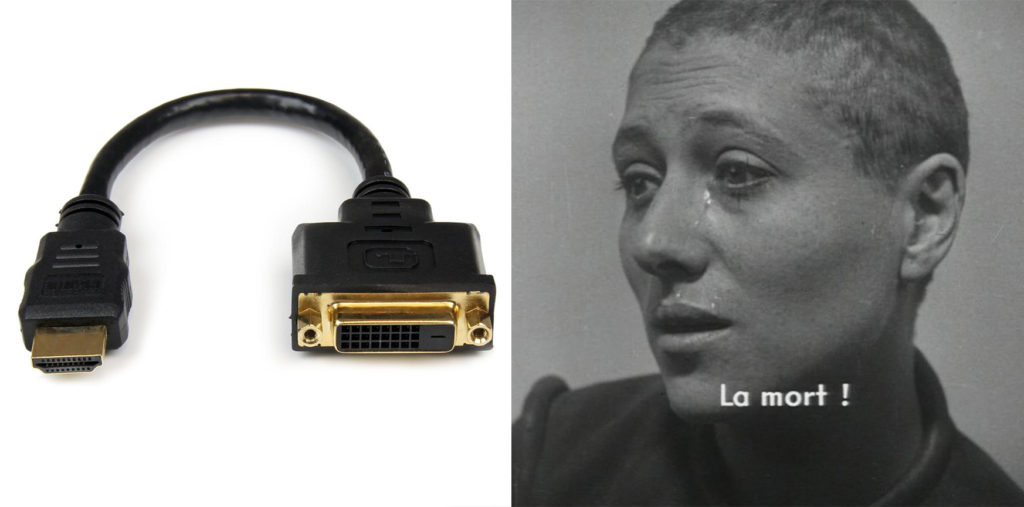 Although DVI to HDMI cables were not around in Joan of Arc's day, experts speculate that she would've disliked them.