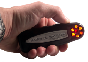 A hidden camera detector will help you assess the space