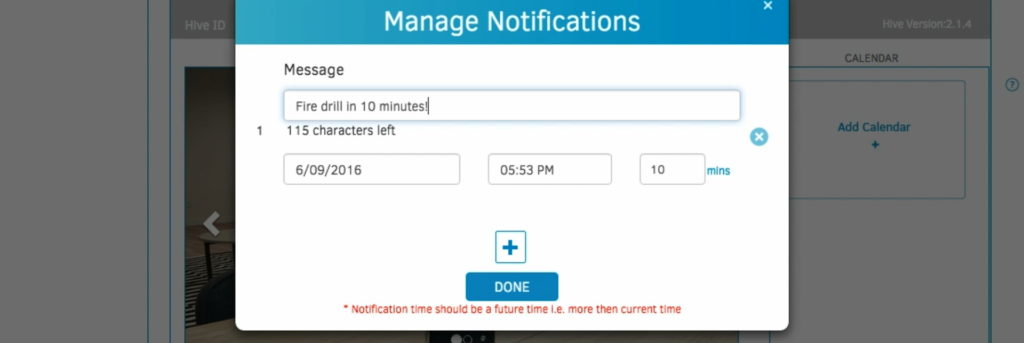 Keep employees in the loop by sending notifications to your conference room displays.
