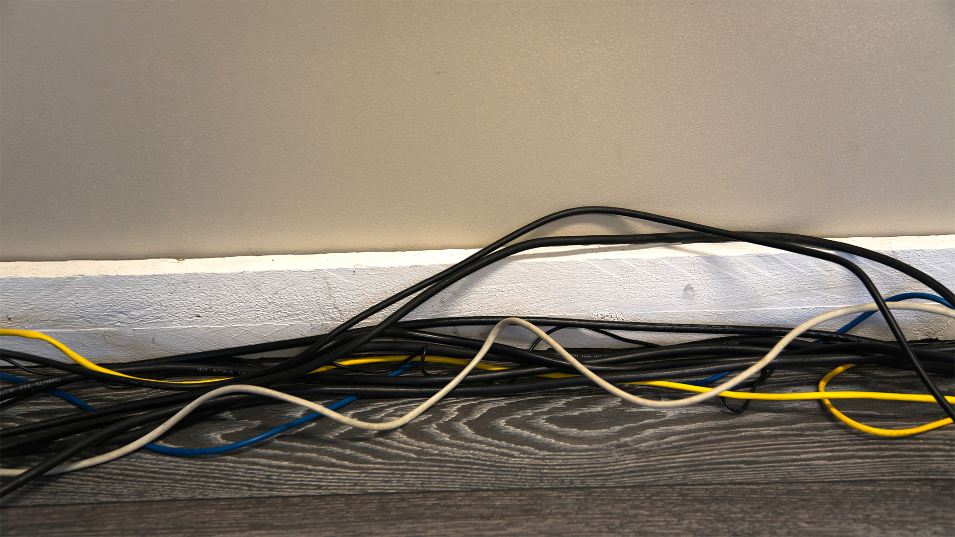 Top 10 conference room cable management fails of 2016 ubiq 2 so many cables along baseboard that baseboard no longer visible keyboard keysfo Gallery