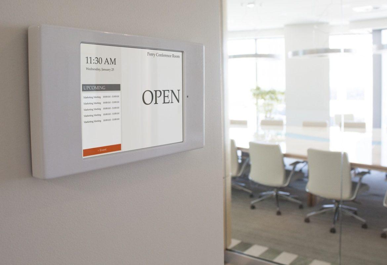 conference room schedule display