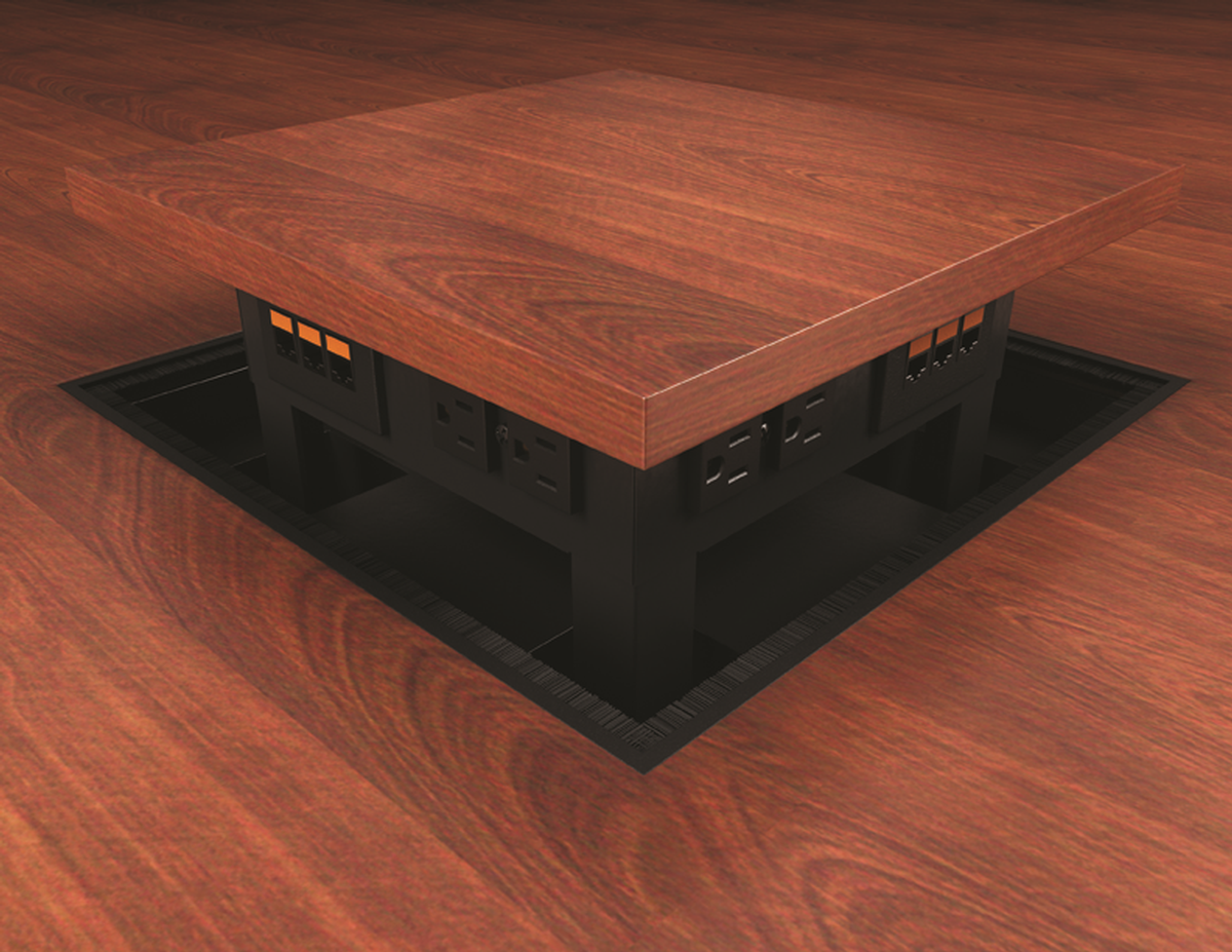Camouflaging Conference Room Floor Boxes Techniques Ubiq - Conference table av box